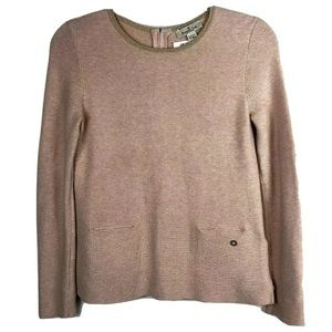 Mossimo Dutto Girls 12 Zip back Sweater Pale pink